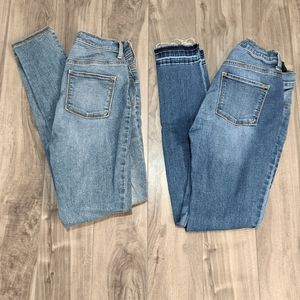 2 Pairs Old Navy Rockstar Jeggings Size 14
